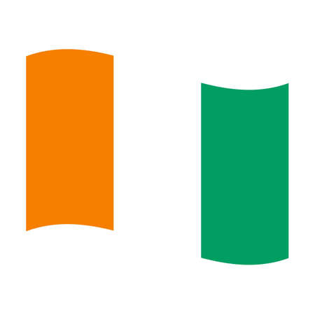 cote ivoire: Illustration of the national flag of cote ivoire floating