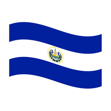 Illustration of the national flag of el salvador floating illustration