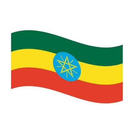 Illustration of the national flag of ethiopia floating illustration