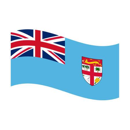 fiji: Illustration of the national flag of fiji floating Stock Photo