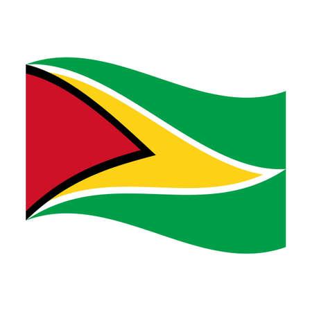 Illustration of the national flag of guyana floating Stock Illustration - 6379767