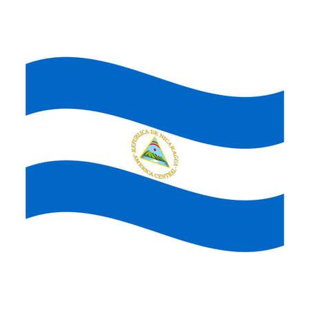Illustration of the national flag of nicaragua floating illustration