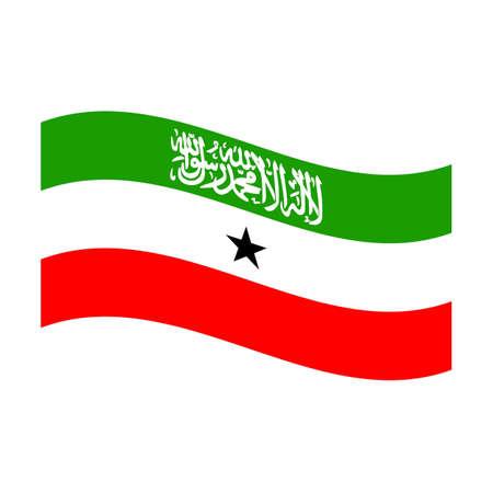 somaliland: Illustration of the national flag of somaliland floating