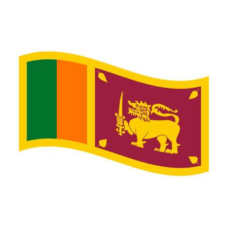 lanka: Illustration of the national flag of sri lanka floating