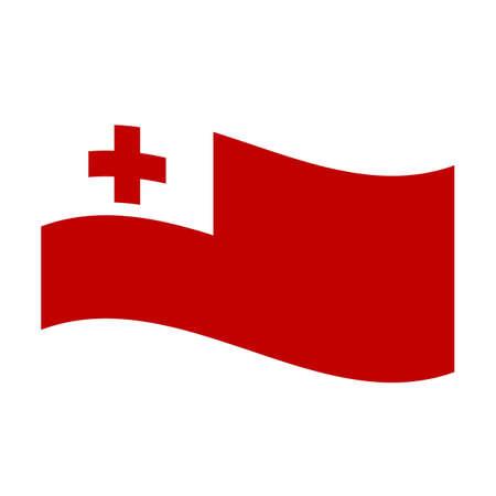 tonga: Illustration of the national flag of tonga floating Stock Photo