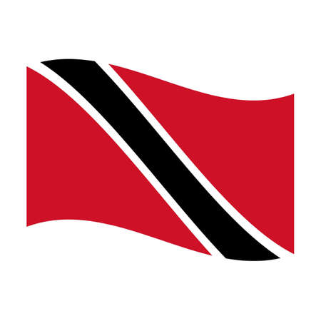 national flag trinidad and tobago: Illustration of the national flag of trinidad and tobago floating