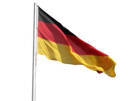 The national German flag of Germany (DE) - isolated over white background photo