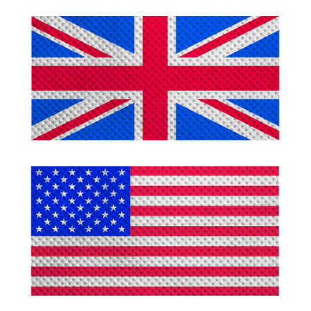Flags of the UK (Union Jack) and USA photo