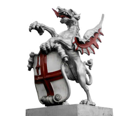 St George with the dragon, symbol of England and London photo