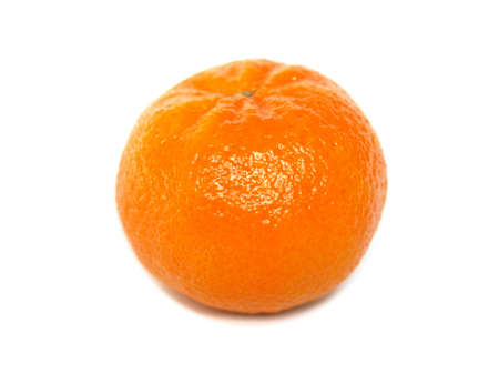 A tangerine fruit over a white background photo
