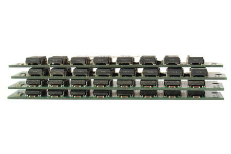 modules: RAM (Random Access Memory) modules for PC personal computer - isolated over white background