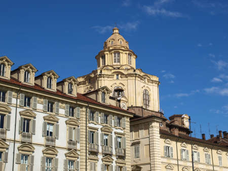 The baroque church of San Lorenzo, Turin, Italy photo