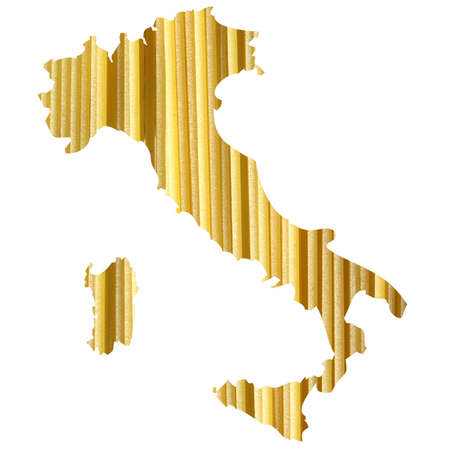 Typical italian food in Italy map illustration Stock Illustration - 6753723