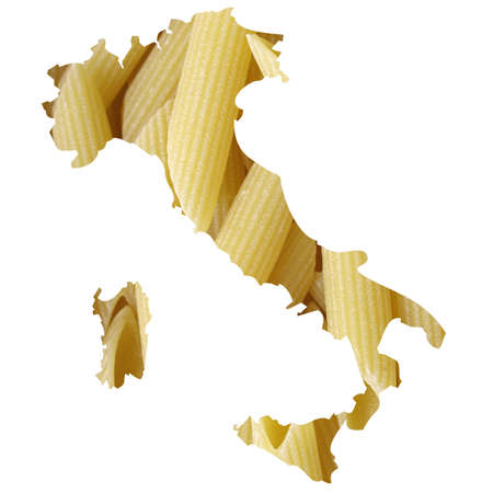 Typical italian food in Italy map illustration