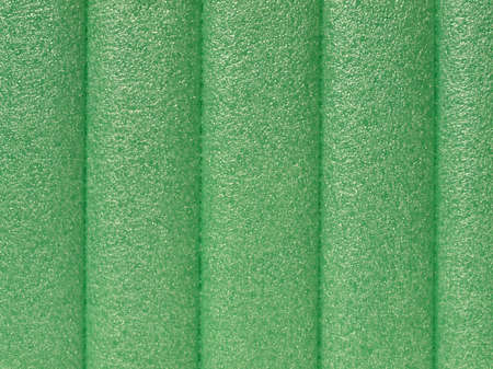 thermoplastic: Green soft polypropylene pillow useful as a background Stock Photo