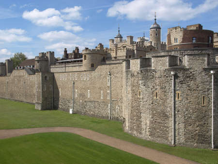 ancient prison: The Tower of London, medieval castle and prison