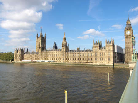 Houses of Parliament, Westminster Palace, London gothic architecture Stock Photo - 7000696