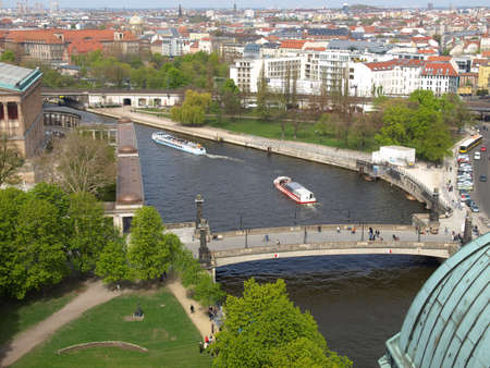 birds eye view: Aerial bird eye view of the city of Berlin, Germany