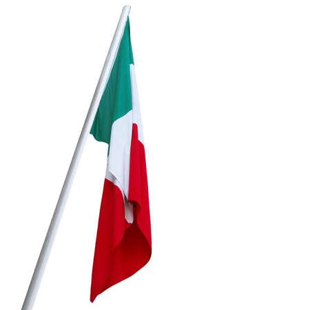 italy flag: La bandera nacional italiana de Italia (IT)  Foto de archivo