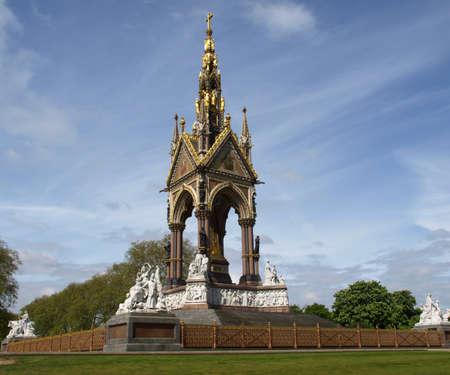 Albert Memorial in Kensington gardens, London, UK photo