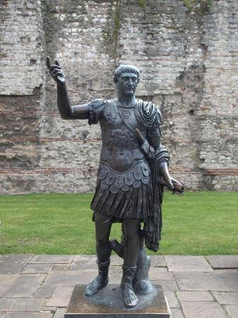 Ancient Roman monument of the Emperor Trajan, London, UK Stock Photo - 7034660