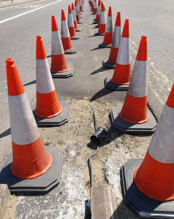 public safety: Traffic cone used in street road works