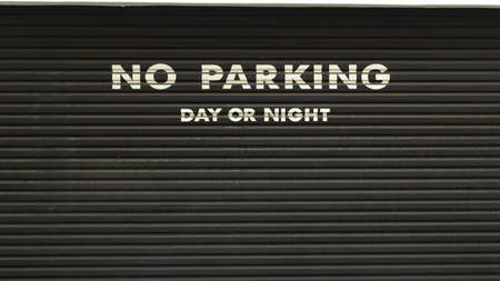 A road sign for a no parking area Stock Photo - 7068089