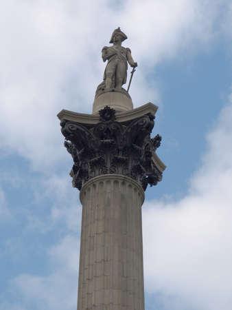 Nelson Column monument in Trafalgar Square, London, UK Stock Photo - 7092502