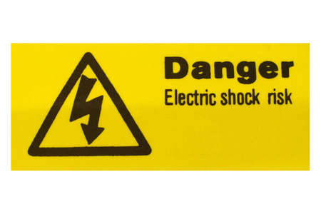 Sign of risk of electric shock by electrocution Stock Photo - 7092503