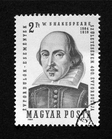 HUNGARY CIRCA 1964 - Shakespeare Stamp, Hungary, Circa 1964 Stock Photo - 7115835