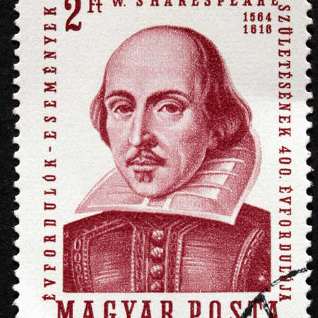 HUNGARY CIRCA 1964 - Shakespeare Stamp, Hungary, Circa 1964 Stock Photo - 7128520