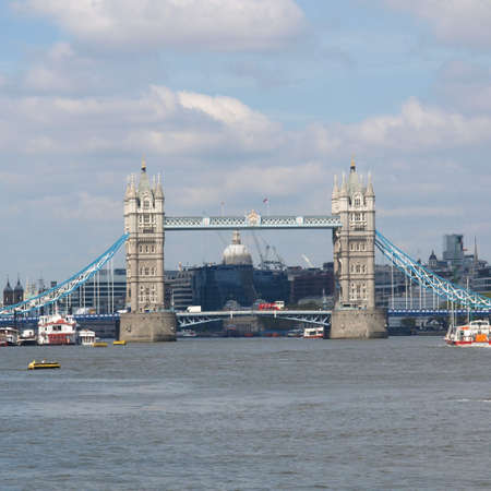 Tower Bridge on River Thames, London, UK photo