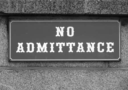 no access: No admittance sign to stop unauthorised access or entry Stock Photo