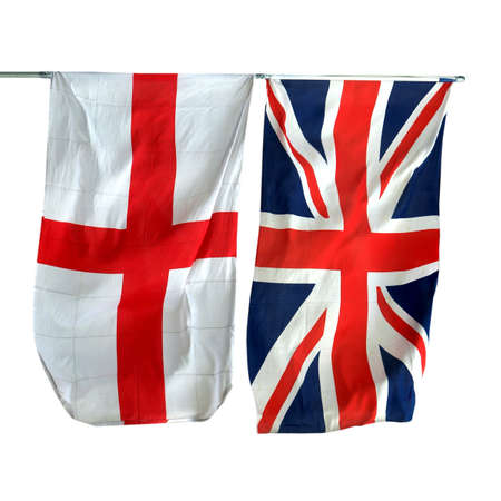 Flags of UK and Englan - isolated over white background Stock Photo - 7159082