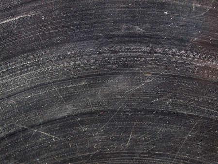 badly: Badly damaged scratched vinyl record vintage analog music recording medium Stock Photo