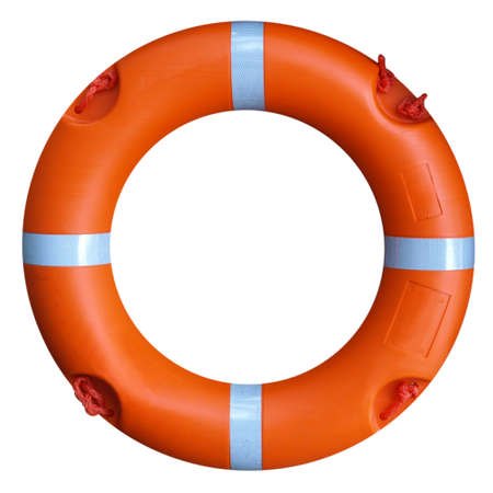 A life buoy for safety at sea - isolated over white background Stock Photo - 7181468