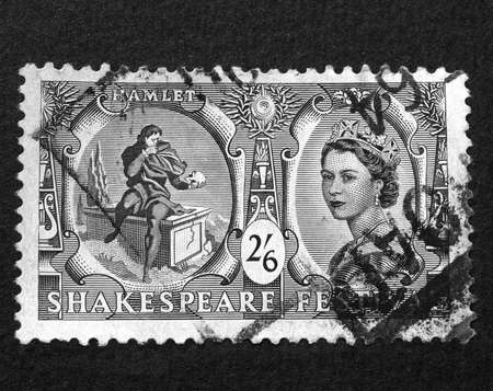 UK 1964 - Shakespeare Festival Stamp, United Kingdom, 1964 Stock Photo - 7198190