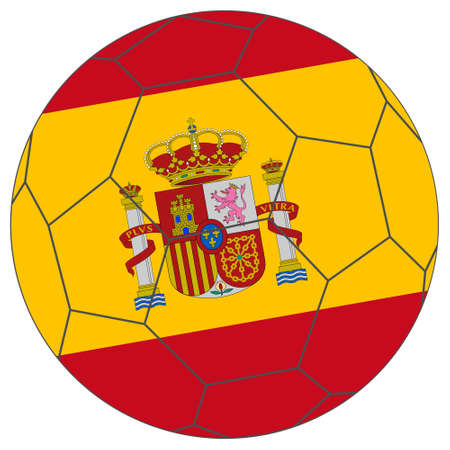 champion of spain: Flag of Spain in a world cup football soccer ball