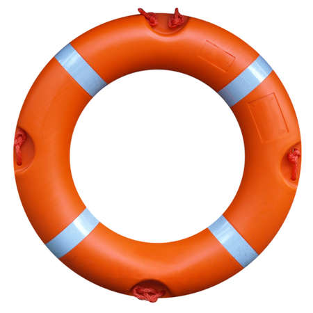 A life buoy for safety at sea - isolated over white background Stock Photo - 7253838