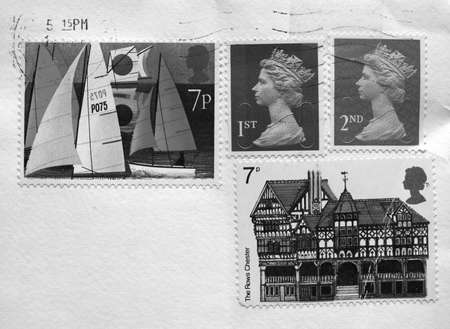 British postage stamps from the United Kingdom (UK) Stock Photo - 7279596