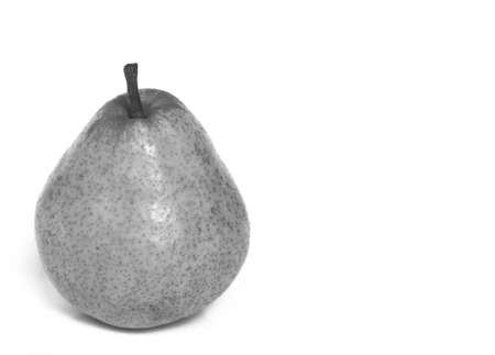 A pear fruit over a white background photo