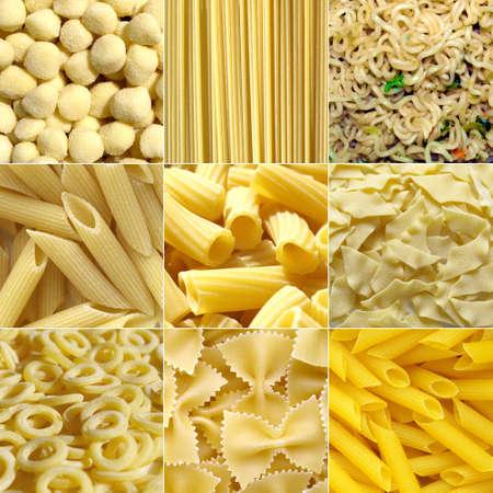 maccheroni: Pasta food collage useful as a background