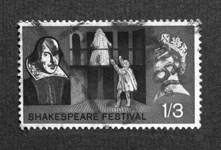 UK 1964 - Shakespeare Festival Stamp, United Kingdom, 1964 Stock Photo - 7291341