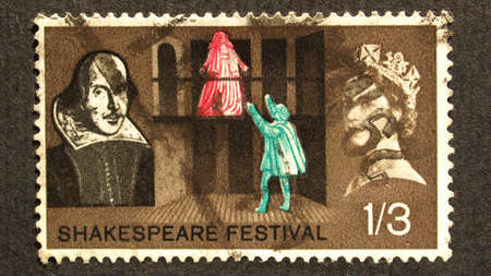 UK 1964 - Shakespeare Festival Stamp, United Kingdom, 1964