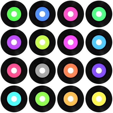 Vinyl record vintage analog music recording medium Stock Photo - 7291496