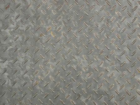 Diamond steel metal sheet useful as background photo