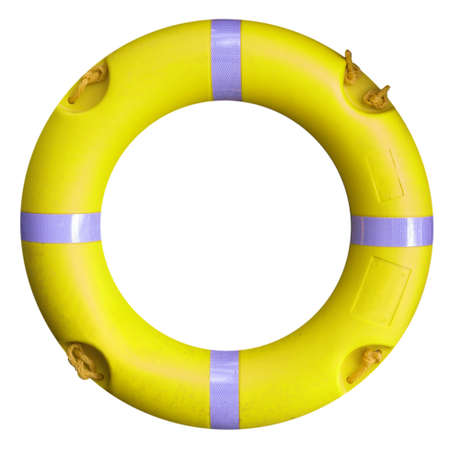 A life buoy for safety at sea - isolated over white background Stock Photo - 7343826
