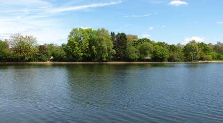 hyde: Serpentine lake river in Hyde Park, London, UK