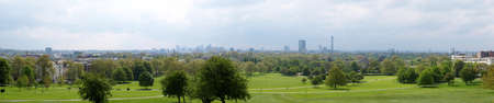 London panorama skyline seen from Primrose hill (high res 9600 pixels wide image) photo