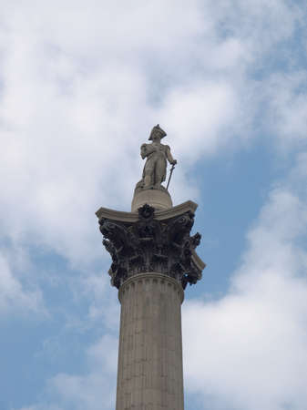 Nelson Column monument in Trafalgar Square, London, UK Stock Photo - 7376424